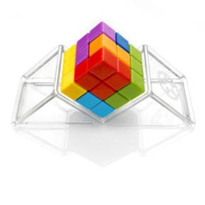 Stack all puzzle pieces on top of each other to create a perfect cube!